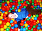 Benji in ball pit